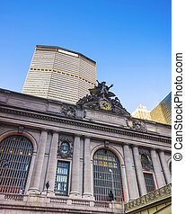 Fragment of Grand Central Terminal Building - New York, USA...