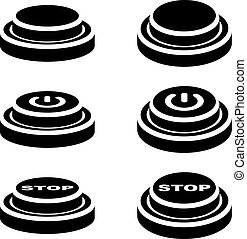 start stop knob button black symbols - illustration for the...