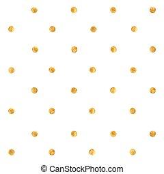 Golden spots background - Golden paint texture. Gold dots...