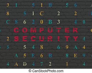 Security concept: Computer Security on wall background -...