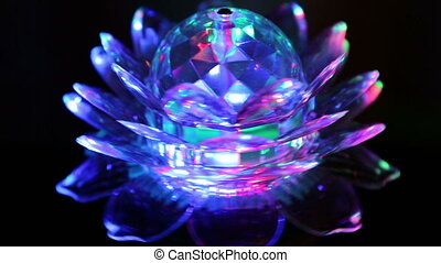 rotating ball with light - rotating ball with multicolored...