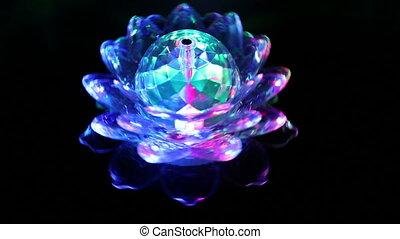 rotating ball with light