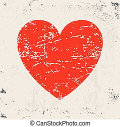 Grunge red heart