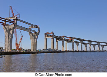 construction of the viaduct
