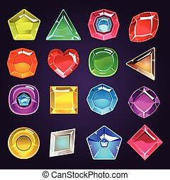 Flash Game Jewel Set - Flash Game Design Jewel Set Of Flat...