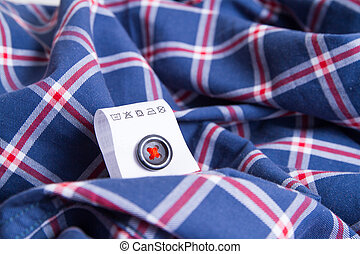 Cloth label advice for your laundry label with instructions...