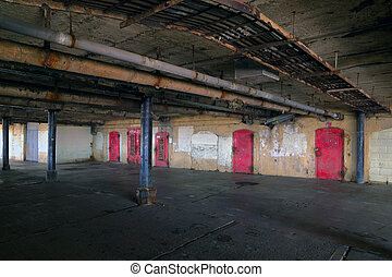 Damp basement area - Shot of the damp and dark basement area...