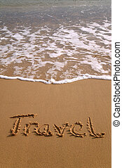 Travel in sand vertical