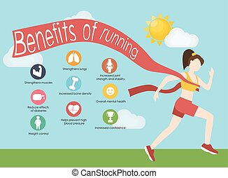 Run infographics. Minimal cool vector illustration