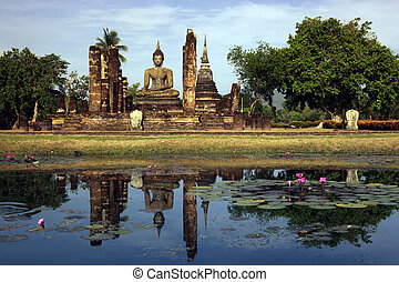 ASIA THAILAND SUKHOTHAI TEMPLE MAHATHAT - the Wat Mahathat...