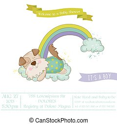 Baby Shower or Arrival Card - Baby Dog- in vector