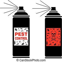 pest control spray - pest invasion, pest plaque