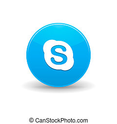 Skype icon, simple style - Skype icon in simple style on a...