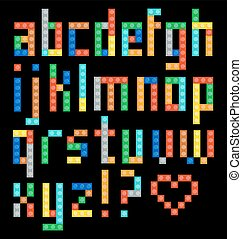 Alphabet set - Alphabet from the multicolor plastic...