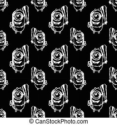 seamless patterbn with minion. vector - seamless pattern...