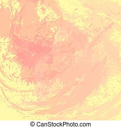 Abstract background. The surface stained with paint. Carelessly painted wall. Pink and yellow colors