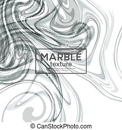 Vector background with gray painted waves. Marble texture. Vector illustration