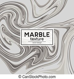 Vector background with gray painted waves. Marble texture....
