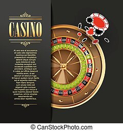 Casino background Vector illustration Gambling template Game...
