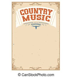 Country music festival background for text