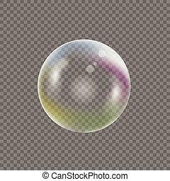 Transparent Soap bubble - Soap bubble on transparent...