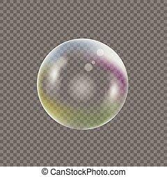 Transparent Soap bubble - Soap bubble on transparent...