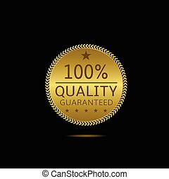 Quality guaranteed label - Quality guaranteed. Golden label...