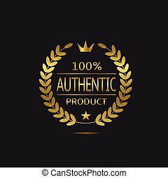 Authentic product label - Authentic product. Warranty sign....