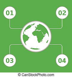Green earth infographic