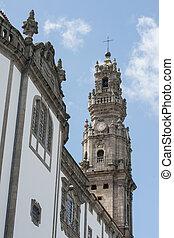 EUROPE PORTUGAL PORTO RIBEIRA CHURCH IGREJA DOS CLERIGOS -...