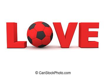 Football Love Red