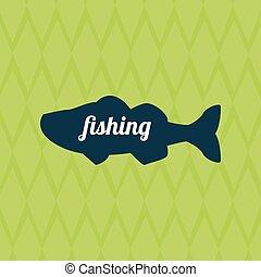 Fishing design. camp concept. sport illustration