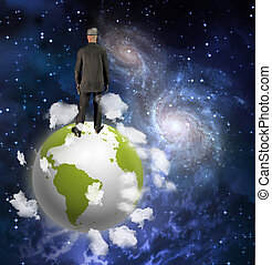 On top of the world - Man On top of the world