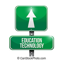education technology street sign concept