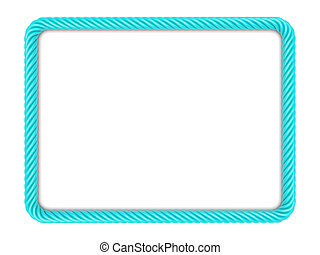 Blue rectangle rope frame - Rectangle frame made up ??of...