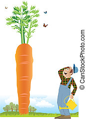 Gardener and a carrot