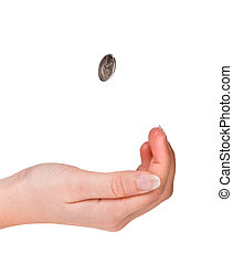 Catching a coin