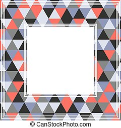 gray red border - Abstract border with gray and red...