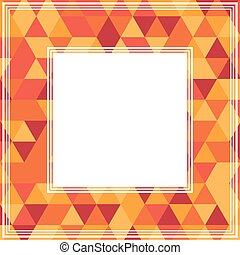 orange red border - Abstract border with orange and red...