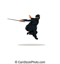 Vector Ninja Cartoon Illustration.