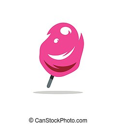 Vector Ice Cream Cartoon Illustration - Colored Ice Lolly...