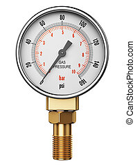 High pressure industrial gas gauge meter or manometer -...