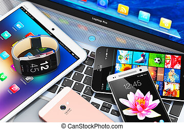 Modern mobile devices - Creative abstract mobility and...