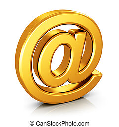Email AT symbol isolated on white background