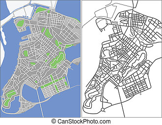 Macao - Illustration city map of Macao in vector.
