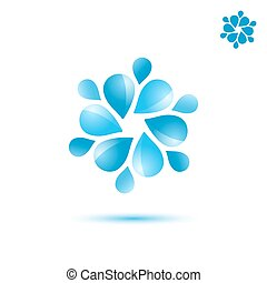 Water circulation sign, 3d vector icon, eps 10