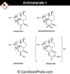 Chemical structures of main antimalarial drugs -...