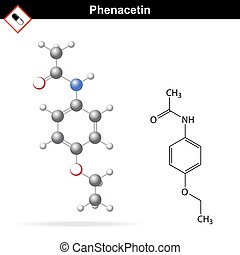 Phenacetin chemical structure - Phenacetin structural...