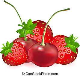 Cherry With Strawberry - Berries (Cherry With Strawberry),...