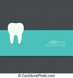 Background with tooth Symbol for dental clinic blue, green...